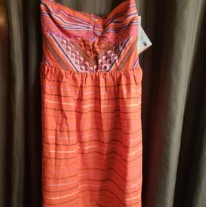 NWT Roxy strapless dress sz small